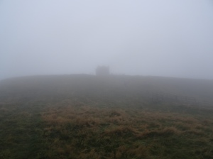 The tor at the top of Rivington Pike.